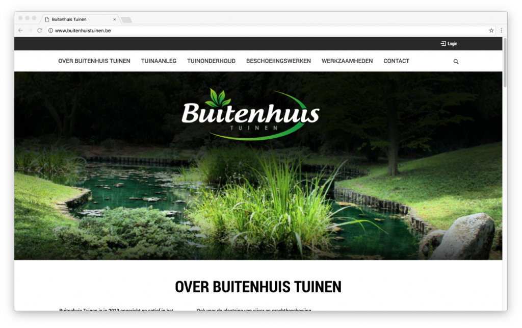 website: Buitenhuis Tuinen