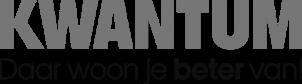 Kwantum logo NIEUW_payoff onder logo_grey